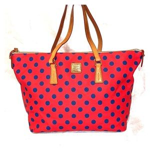 Dooney & Bourke Polka Dot Large Tote Bag